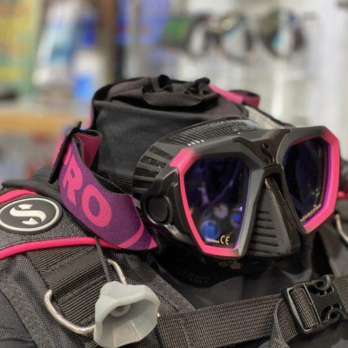 pink d mask